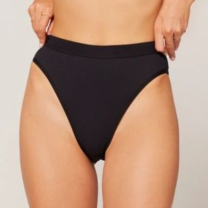 NWT L*Space Ribbed Frenchie Bottom Black M